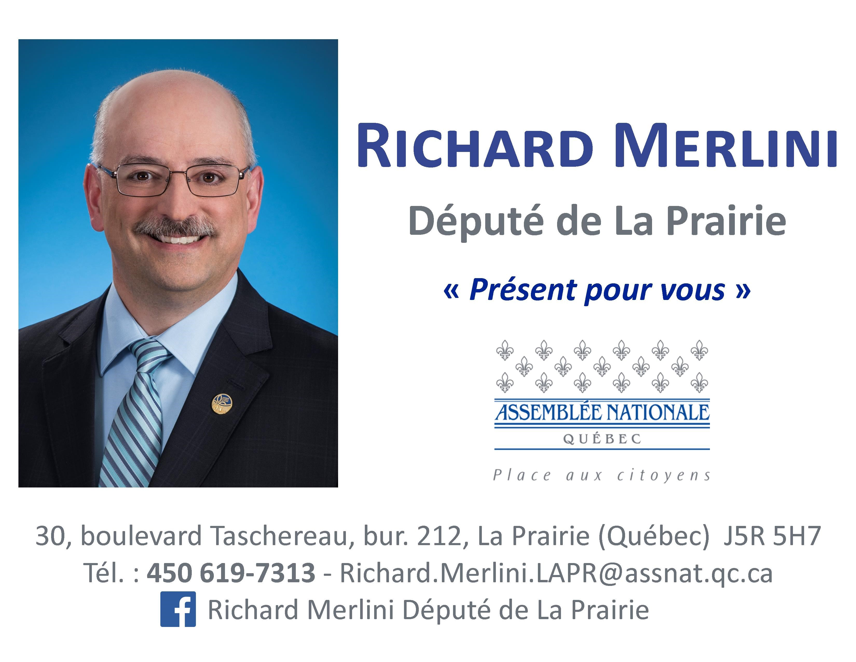 Richard Merlini, Député de La Prairie